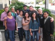 Eric and Stacy, on left, with students