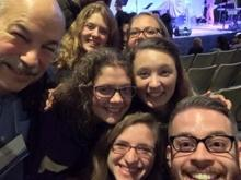Selfie with salem State (Massachusetts) students and staff